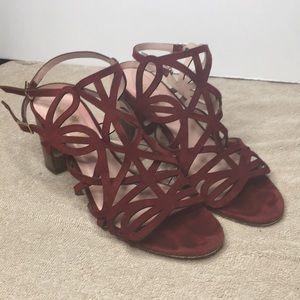 Kate spade ♠️ suede in deep red wine heels